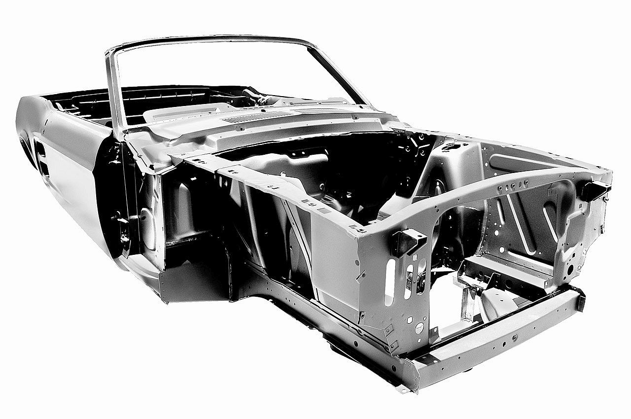 Classic Car Body 1967 Ford Mustang Convertible